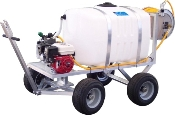 50 Or 100 Gallon 4 Wheel Nursery Cart Sprayer